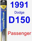 Passenger Wiper Blade for 1991 Dodge D150 - Hybrid