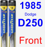 Front Wiper Blade Pack for 1985 Dodge D250 - Hybrid