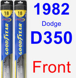 Front Wiper Blade Pack for 1982 Dodge D350 - Hybrid