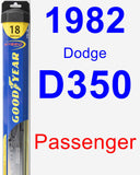 Passenger Wiper Blade for 1982 Dodge D350 - Hybrid