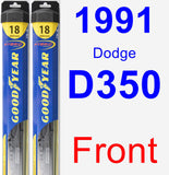 Front Wiper Blade Pack for 1991 Dodge D350 - Hybrid