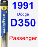 Passenger Wiper Blade for 1991 Dodge D350 - Hybrid