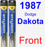 Front Wiper Blade Pack for 1987 Dodge Dakota - Hybrid
