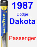 Passenger Wiper Blade for 1987 Dodge Dakota - Hybrid