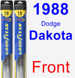 Front Wiper Blade Pack for 1988 Dodge Dakota - Hybrid