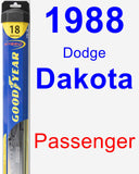 Passenger Wiper Blade for 1988 Dodge Dakota - Hybrid