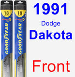 Front Wiper Blade Pack for 1991 Dodge Dakota - Hybrid