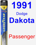 Passenger Wiper Blade for 1991 Dodge Dakota - Hybrid
