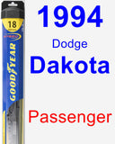 Passenger Wiper Blade for 1994 Dodge Dakota - Hybrid