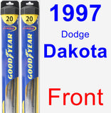Front Wiper Blade Pack for 1997 Dodge Dakota - Hybrid