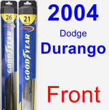 Front Wiper Blade Pack for 2004 Dodge Durango - Hybrid