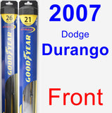 Front Wiper Blade Pack for 2007 Dodge Durango - Hybrid