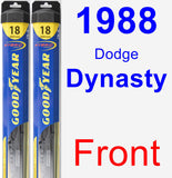 Front Wiper Blade Pack for 1988 Dodge Dynasty - Hybrid