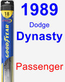 Passenger Wiper Blade for 1989 Dodge Dynasty - Hybrid