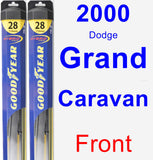 Front Wiper Blade Pack for 2000 Dodge Grand Caravan - Hybrid