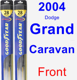 Front Wiper Blade Pack for 2004 Dodge Grand Caravan - Hybrid