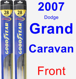 Front Wiper Blade Pack for 2007 Dodge Grand Caravan - Hybrid