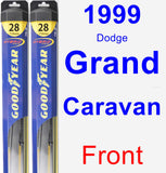 Front Wiper Blade Pack for 1999 Dodge Grand Caravan - Hybrid