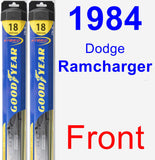 Front Wiper Blade Pack for 1984 Dodge Ramcharger - Hybrid