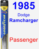 Passenger Wiper Blade for 1985 Dodge Ramcharger - Hybrid