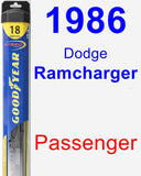 Passenger Wiper Blade for 1986 Dodge Ramcharger - Hybrid