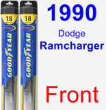 Front Wiper Blade Pack for 1990 Dodge Ramcharger - Hybrid