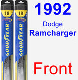 Front Wiper Blade Pack for 1992 Dodge Ramcharger - Hybrid