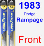 Front Wiper Blade Pack for 1983 Dodge Rampage - Hybrid