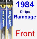 Front Wiper Blade Pack for 1984 Dodge Rampage - Hybrid