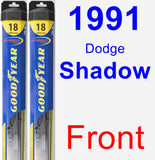 Front Wiper Blade Pack for 1991 Dodge Shadow - Hybrid