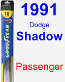 Passenger Wiper Blade for 1991 Dodge Shadow - Hybrid