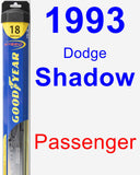 Passenger Wiper Blade for 1993 Dodge Shadow - Hybrid