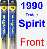 Front Wiper Blade Pack for 1990 Dodge Spirit - Hybrid