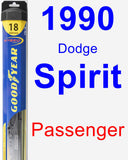 Passenger Wiper Blade for 1990 Dodge Spirit - Hybrid