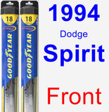 Front Wiper Blade Pack for 1994 Dodge Spirit - Hybrid