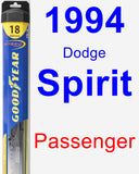 Passenger Wiper Blade for 1994 Dodge Spirit - Hybrid