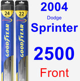 Front Wiper Blade Pack for 2004 Dodge Sprinter 2500 - Hybrid