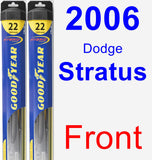 Front Wiper Blade Pack for 2006 Dodge Stratus - Hybrid