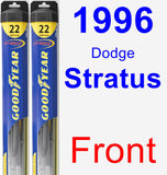Front Wiper Blade Pack for 1996 Dodge Stratus - Hybrid