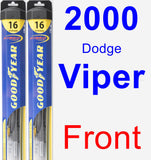 Front Wiper Blade Pack for 2000 Dodge Viper - Hybrid