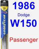 Passenger Wiper Blade for 1986 Dodge W150 - Hybrid