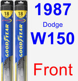 Front Wiper Blade Pack for 1987 Dodge W150 - Hybrid