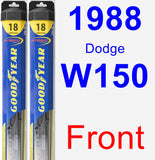 Front Wiper Blade Pack for 1988 Dodge W150 - Hybrid