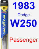 Passenger Wiper Blade for 1983 Dodge W250 - Hybrid