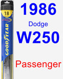 Passenger Wiper Blade for 1986 Dodge W250 - Hybrid