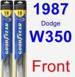 Front Wiper Blade Pack for 1987 Dodge W350 - Hybrid