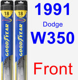 Front Wiper Blade Pack for 1991 Dodge W350 - Hybrid