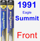 Front Wiper Blade Pack for 1991 Eagle Summit - Hybrid