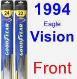 Front Wiper Blade Pack for 1994 Eagle Vision - Hybrid