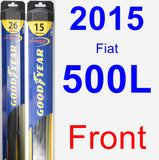 Front Wiper Blade Pack for 2015 Fiat 500L - Hybrid